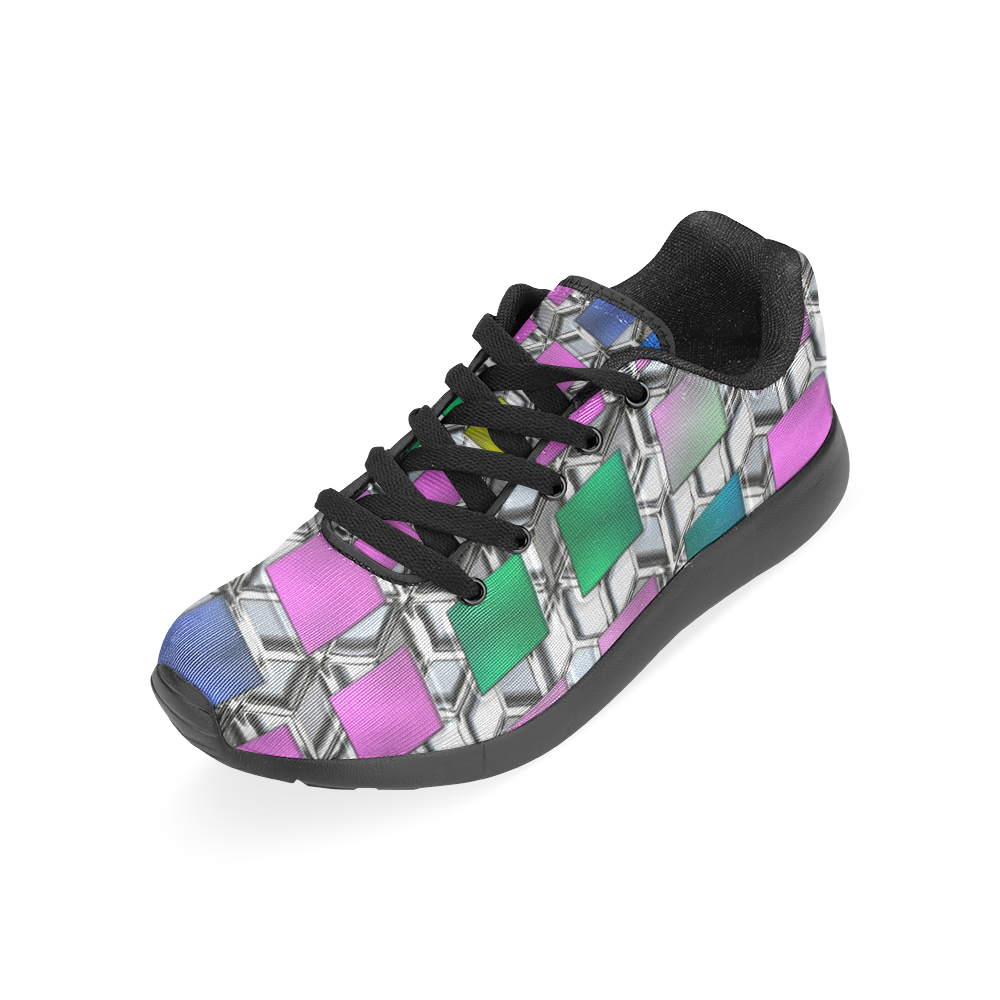 MULTICOLOR ABSTRACT Men's Running Shoes (Model 020)