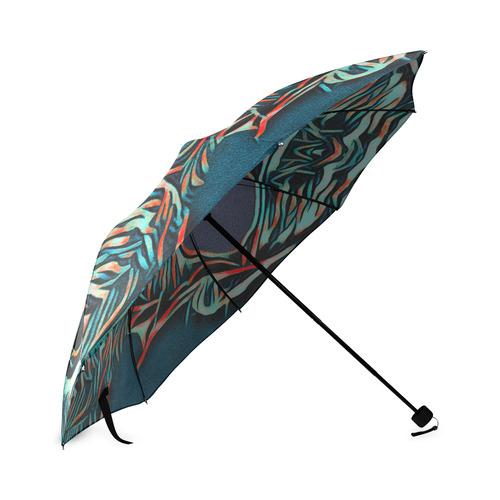 DOG WITH SUNGLASS Foldable Umbrella (Model U01)