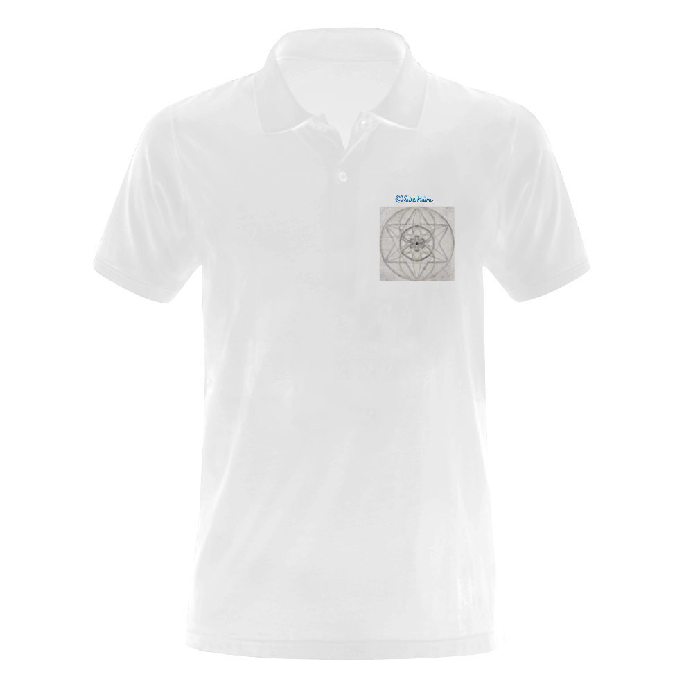 protection through fundamental mineral energy Men's Polo Shirt (Model T24)