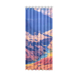 "mountain and desert at Grand Canyon national park, USA Window Curtain 52"" x 120""(One Piece)"