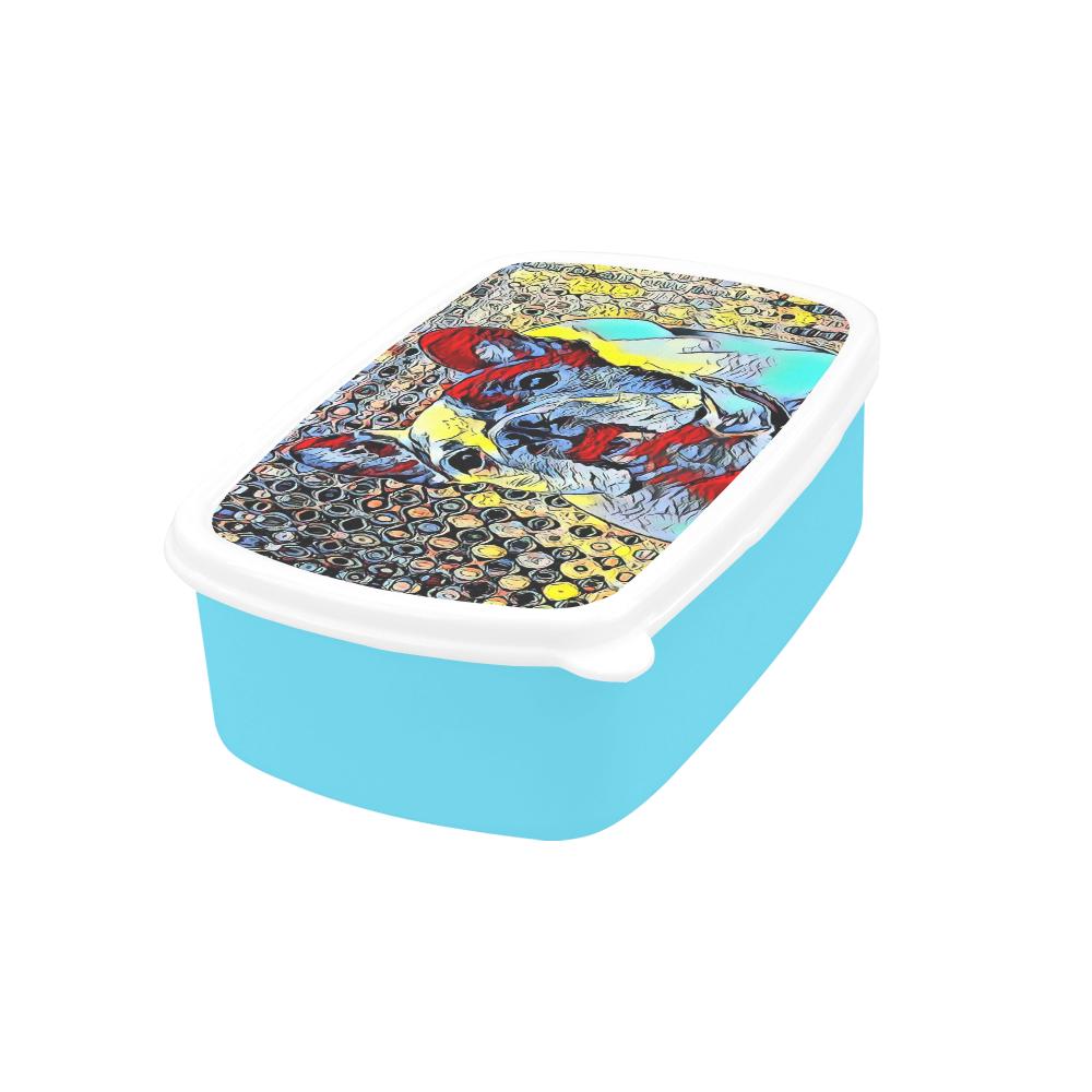 FRENCH BULLDOG BLUE Children's Lunch Box