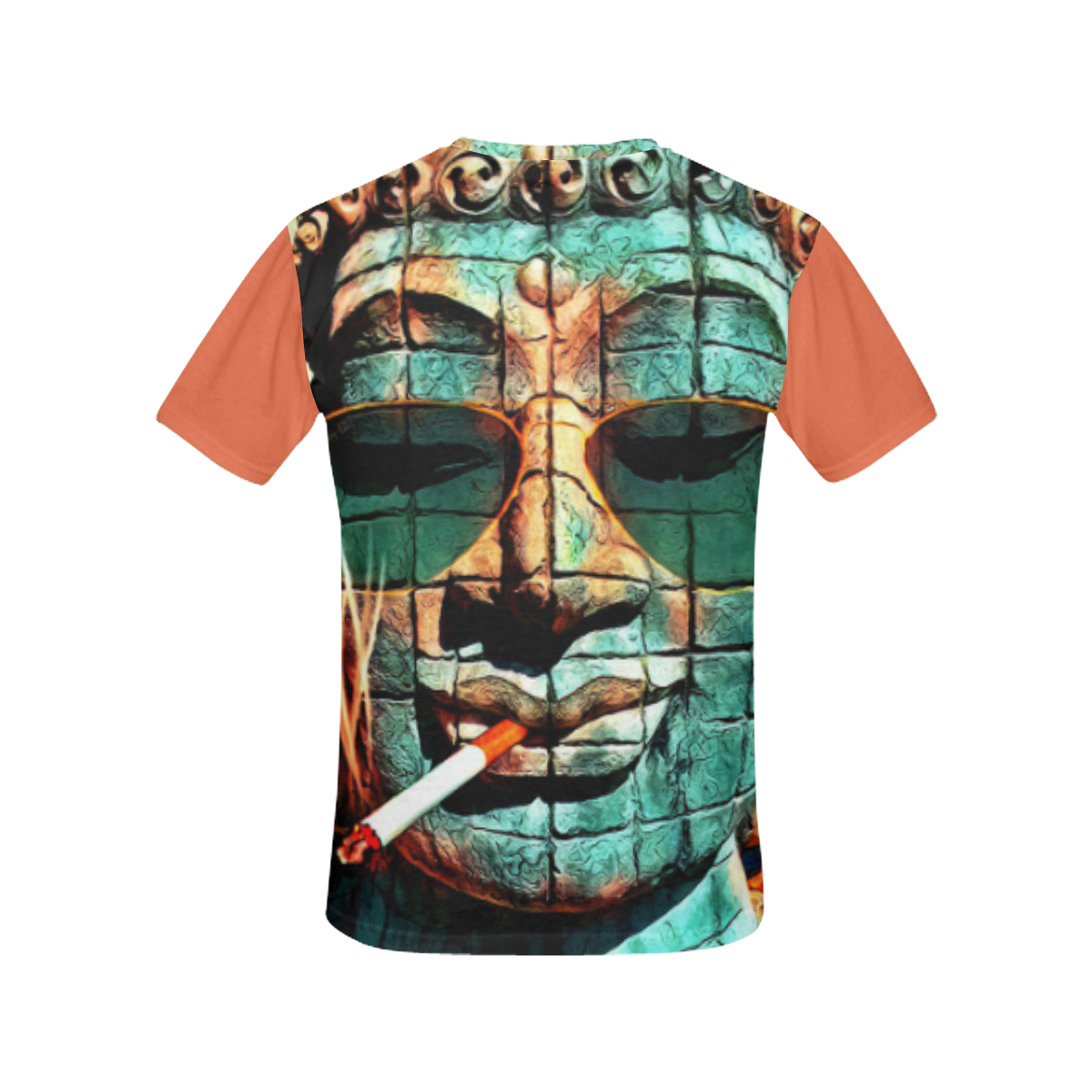 FUNNY BUDDHA All Over Print T-Shirt for Women (USA Size) (Model T40)