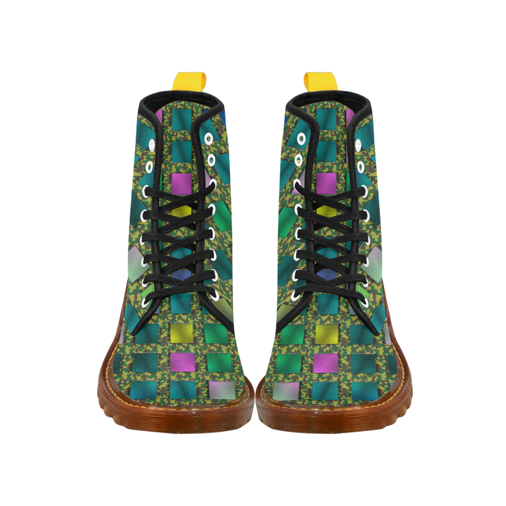 CAMOUFLAGE COLORED KARO Martin Boots For Women Model 1203H