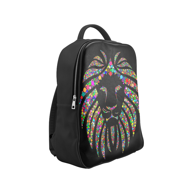 Abstract Lion Face Black Popular Backpack (Model 1622)