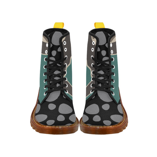 CAMOUFLAGE MIX ARMY Martin Boots For Women Model 1203H