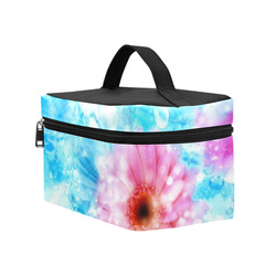 Floral watercolor Cosmetic Bag/Large (Model 1658)