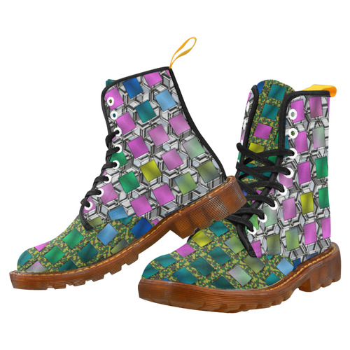 COLORED KARO MIXED STILE Martin Boots For Women Model 1203H