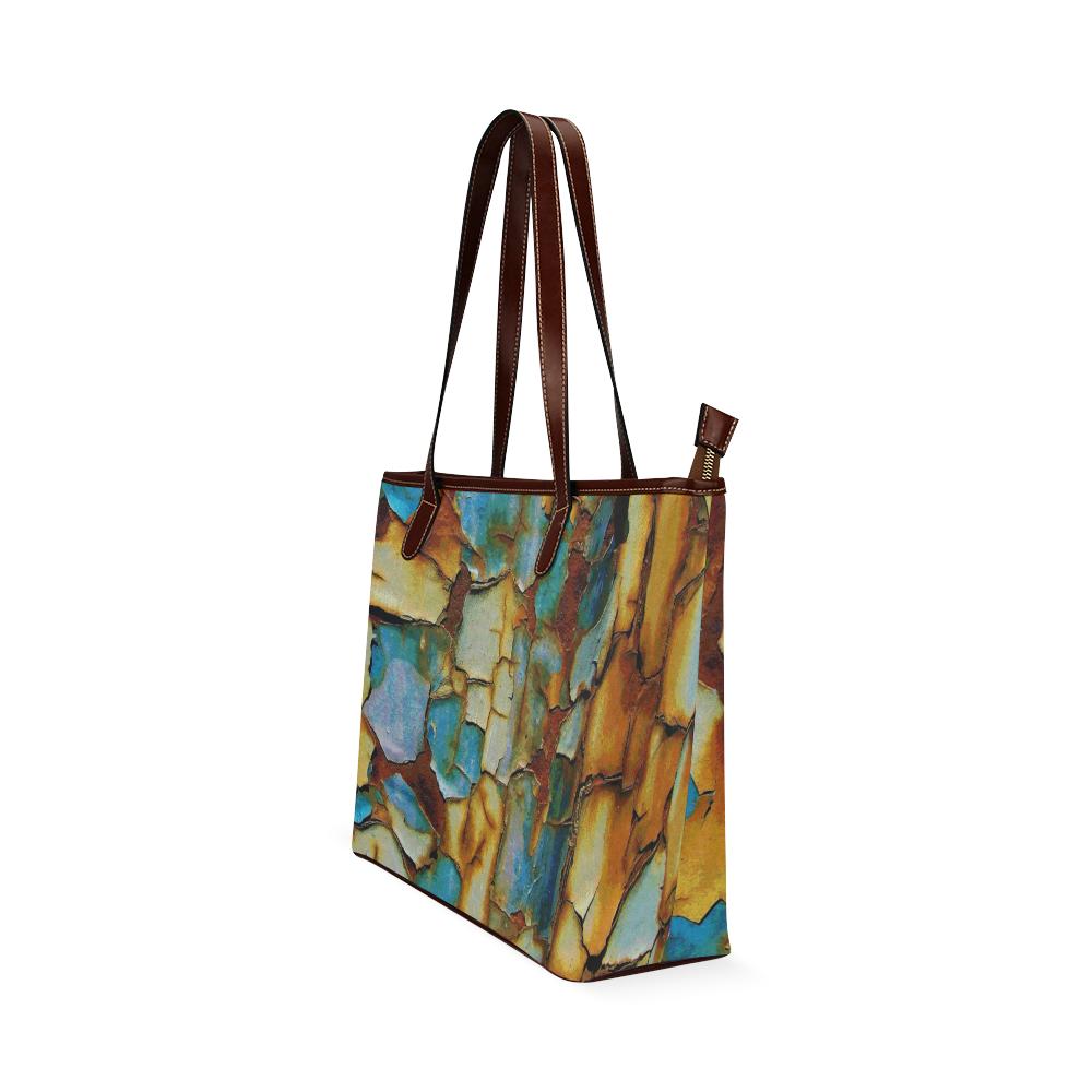 Rusty texture Shoulder Tote Bag (Model 1646)