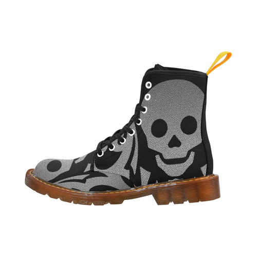 SKULL METALIC OPTIC Martin Boots For Women Model 1203H