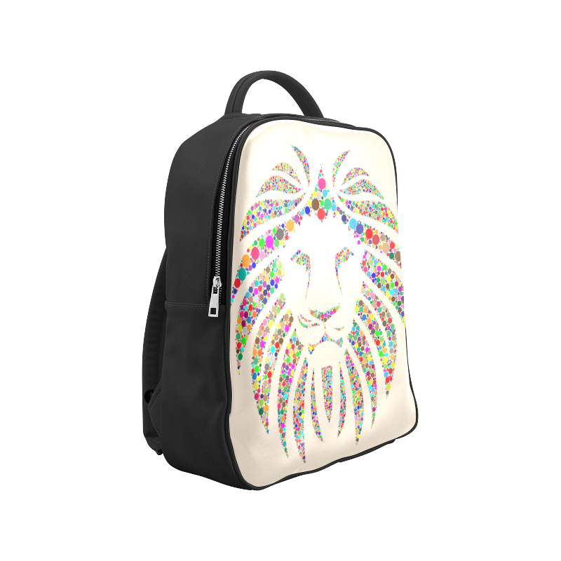 Abstract Lion Face Beige Popular Backpack (Model 1622)