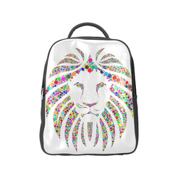 Abstract Lion Face White Popular Backpack (Model 1622)