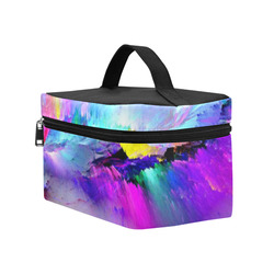 Rainbow Watercolor Cosmetic Bag/Large (Model 1658)