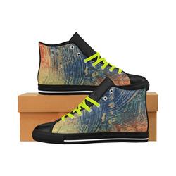 3 colors paint Aquila High Top Microfiber Leather Men's Shoes (Model 027)