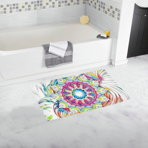Sunshine Feeling Mandala Bath Rug 16''x 28''