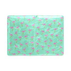 Pink and Green Flamingo Pattern Custom NoteBook A5