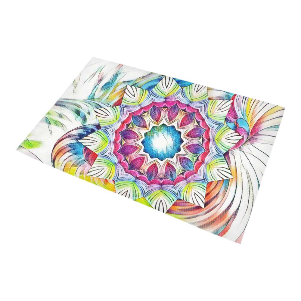 Sunshine Feeling Mandala Bath Rug 20''x 32''