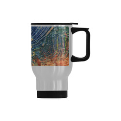 3 colors paint Travel Mug (Silver) (14 Oz)