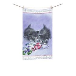 "Vintage Kittens Antique Pearls Custom Towel 16""x28"""