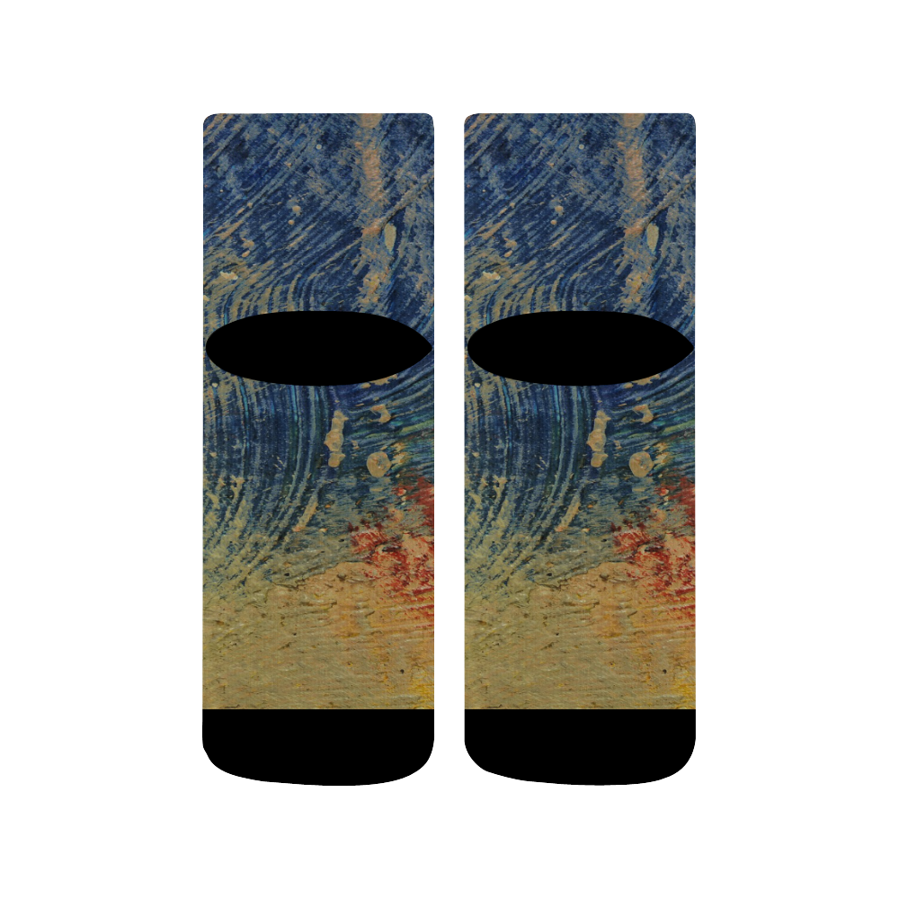 3 colors paint Quarter Socks