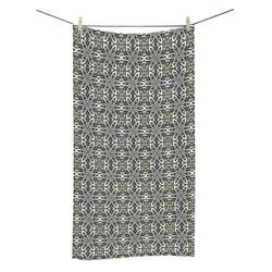 "Black and Gray Geometric Bath Towel 30""x56"""