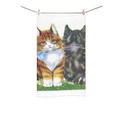 "Vintage Kittens Custom Towel 16""x28"""