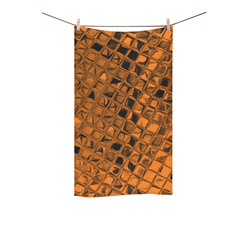 "Metallic Orange Custom Towel 16""x28"""