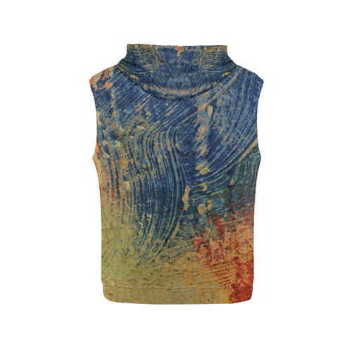3 colors paint All Over Print Sleeveless Hoodie for Women (Model H15)