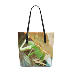 Baby Praying Mantis Nature Insects Euramerican Tote Bag/Small (Model 1655)