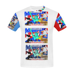 red republic All Over Print T-Shirt for Men (USA Size) (Model T40)