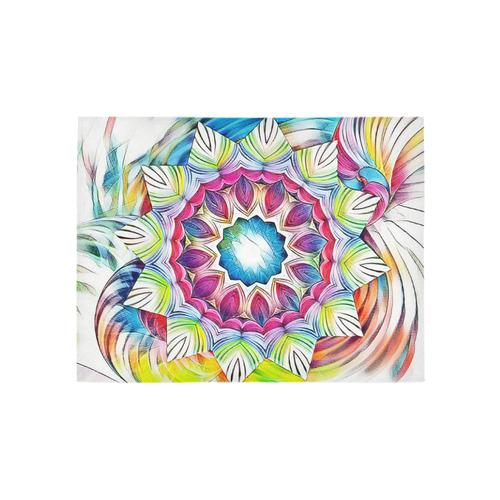 Sunshine Feeling Mandala Area Rug 5'3''x4'