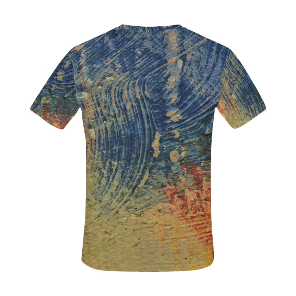 3 colors paint All Over Print T-Shirt for Men (USA Size) (Model T40)