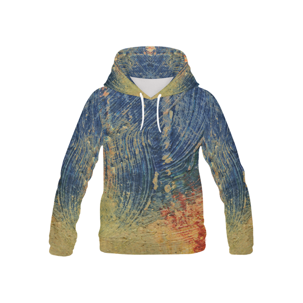 3 colors paint All Over Print Hoodie for Kid (USA Size) (Model H13)