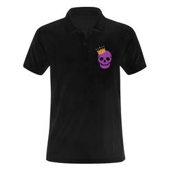 Skull Men's Polo Shirt (Model T24)