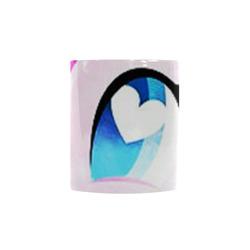 heart pinkie Custom Morphing Mug