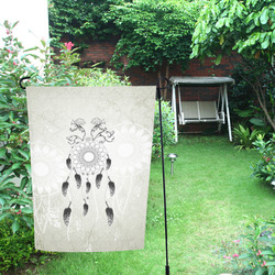 Dreamcatcher in black and white Garden Flag 12''x18''(Without Flagpole)