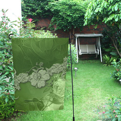 Wonderful green floral design Garden Flag 12''x18''(Without Flagpole)