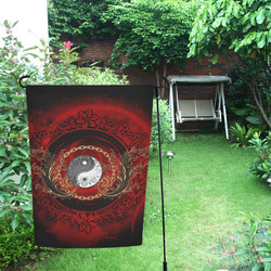 The sign ying and yang Garden Flag 12''x18''(Without Flagpole)