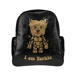 I am Yorkie Multi-Pockets Backpack (Model 1636)
