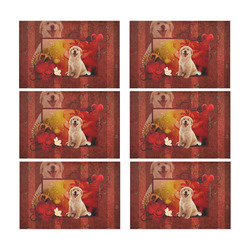 Sweet golden retriever Placemat 12'' x 18'' (Six Pieces)