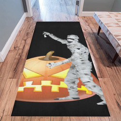 Funny Halloween - Zombie by JamColors Area Rug 10'x3'3''