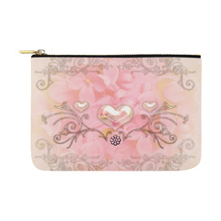 Hearts, soft colors Carry-All Pouch 12.5''x8.5''