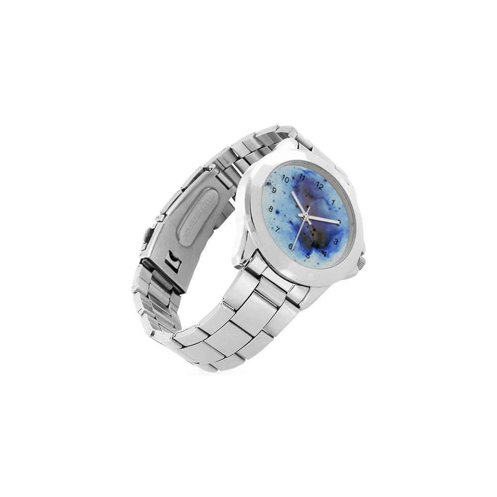 Indigo Star Cluster Unisex Stainless Steel Watch(Model 103)