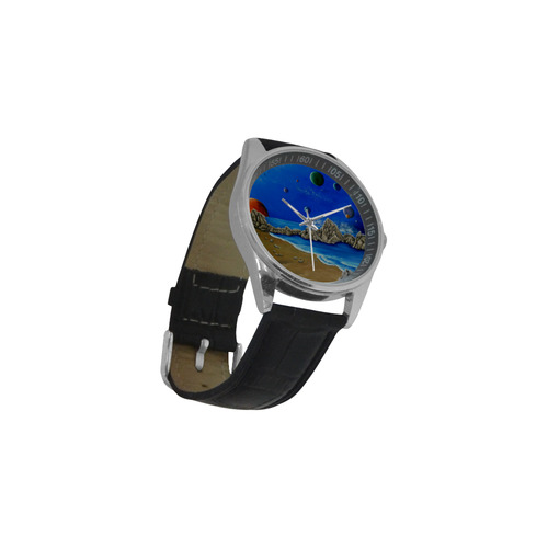 Cosmic Perception Men's Casual Leather Strap Watch(Model 211)