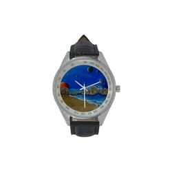 Cosmic Perception Men's Leather Strap Analog Watch(Model 209)