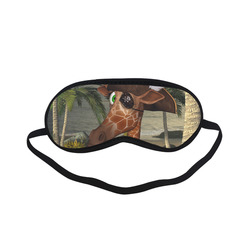 Funny giraffe as a pirate Sleeping Mask
