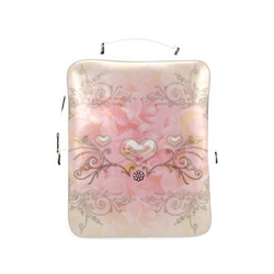 Hearts, soft colors Square Backpack (Model 1618)