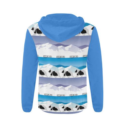 Keeshond Rockin the Rockies All Over Print Full Zip Hoodie for Men (Model H14)