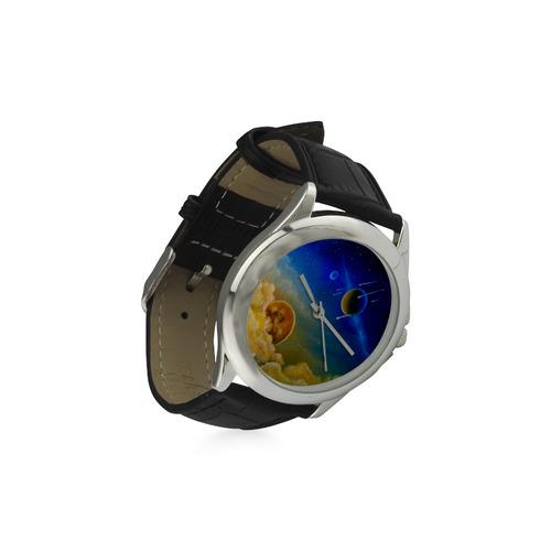 Cosmic Illumination Women's Classic Leather Strap Watch(Model 203)