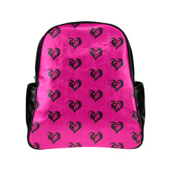 lovely hearts 17A by JamColors Multi-Pockets Backpack (Model 1636)