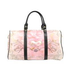 Hearts, soft colors New Waterproof Travel Bag/Large (Model 1639)